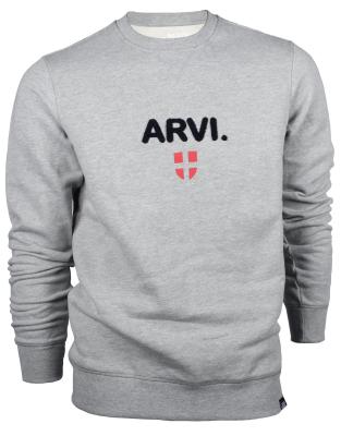 Arvi Crew Light Grey Heather