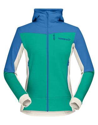 Falketind Warmwool2 Stretch Zip Hood W Campanula/Arcadia