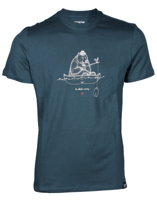 Fishing Bear Tee Blue