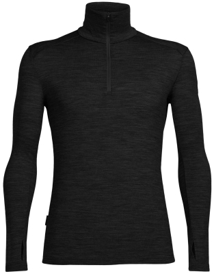 Mens Tech Top LS Half Zip Black/Black/Black