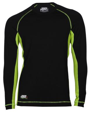 Merinos Top LS Black/Green