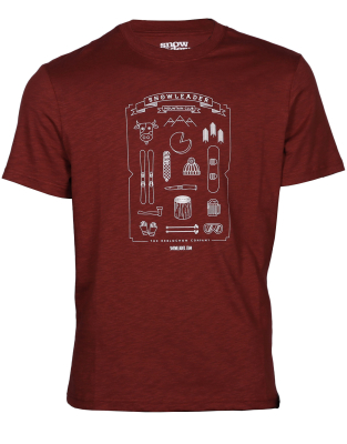 Mountain Kit Tee Burgundy