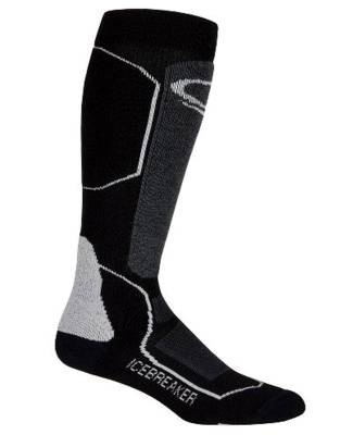 Socks Ski+ Medium OTC W Black/Oil/Silver