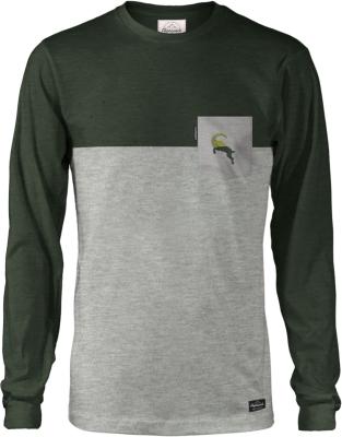 Steibock-Täschli Longsleeve Grey Melange Black Forest Dark Melange