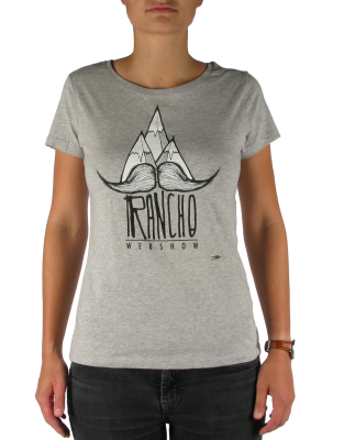 Rancho Moustache Tee Light Grey Heather W