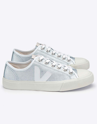 Veja Wata Canvas Silver White   Women s trainers   Snowleader 6adc60861