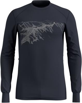 T-Shirt ML Active Warm Print India Ink