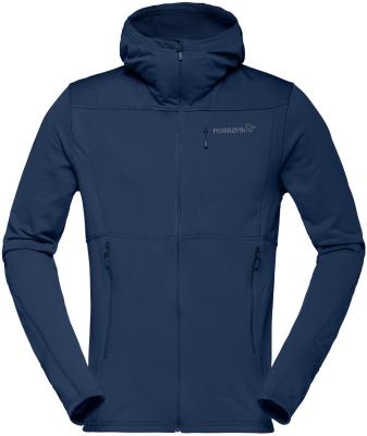 Falketind Warm1 Stretch Zip Hoodie (M) Indigo Night