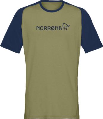 Fjora Equaliser Lightweight T-Shirt M's Olive Drab/Indigo Night