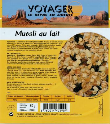 Muesli Pocket Au Lait Aux Fruits 80g