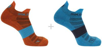 Socks Sense 2-Pack Hawaiian Ocean/Cherry Tomato