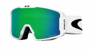 8aec1b07c4 Oakley Line Miner XM Matte White Prizm Snow Jade Iridium   Ski Goggles    Snowleader