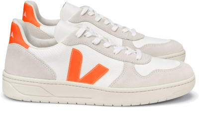 V10 BMesh White Natural Orange Fluo