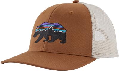 Fitz Roy Bear Trucker Hat Earthworm Brown