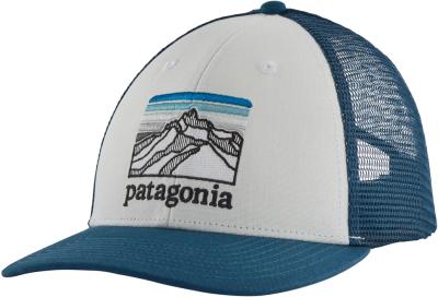 Line Logo Ridge LoPro Trucker Hat White w/Crater Blue