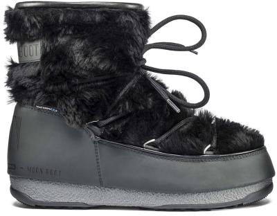 newest collection 8f8b6 49b9c Moon Boot Monaco Low Fur WP Black