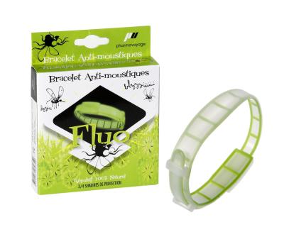 Bracelet anti insectes phosphorescents Vert