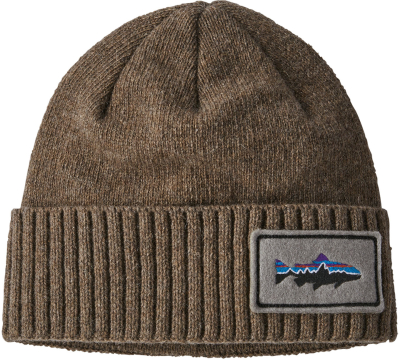Brodeo Beanie Fitz Roy Trout Patch: Ash Tan