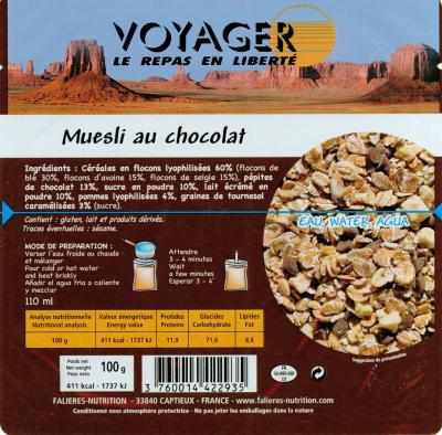 Muesli Au Chocolat 100g