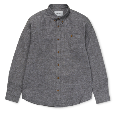 LS Cram Shirt Dark Grey Heather