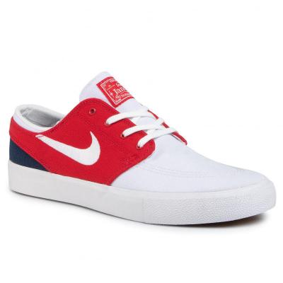 Nike Sb Zoom Janoski Cnvs Rm White/White-University Red-Midnight Navy