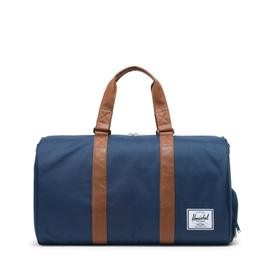 Novel Duffle Navy/Tan Synthetic Leather