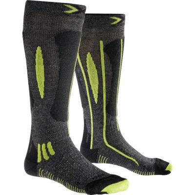 Socks Ski Race Men Grey/Black/Lime