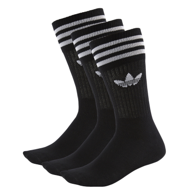 Solid Crew Sock Black/White