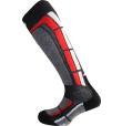 Backside Socks Gris Rouge