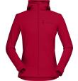Falketind Warmwool2 Stretch Zip Hood W'S Jester Red