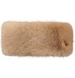 Fur Headband W Light Brown