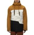 Mns Geo Insulated Jacket Golden Brown Colorblock