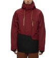 Mns Geo Insulated Jacket Oxblood Colorblock