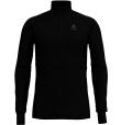 Tee Shirt ML Warm Zip Black