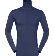Wool Zip Neck M Indigo Night Indigo Night