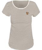 Nüssli-Stibiizer T-shirt Taupe Grey Snowwhite Striped