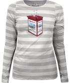 Snow Flakes LS T-shirt Grey Melange Snowwhite Melange Striped