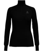 T Shirt ML Warm Zip Black