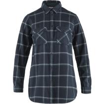 Achat Övik Twill Shirt LS W Dark Navy-Steel Blue