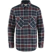 Buy Övik Twill Shirt M Dark Navy-Dark Garnet