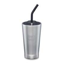 Achat 16oz Insulated Tumbler (w/Straw Lid) Brushed Stainless