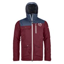2L Swisswool Andermatt Jacket M Dark Blood