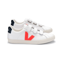 Kauf 3-Lock Logo Leather Extra-White_Orange-Fluo_Nautico