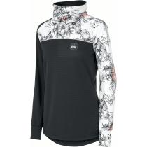 Achat Blossom Grid Fleece W Peonies Black