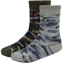 Buy Camo Socks (2Pcs) Grey Camo