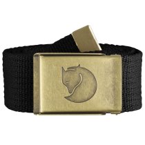 Achat Canvas Brass Belt 4 cm. Black