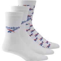 Acquisto CL Fo Crew Sock 3P White Vector Blue Vector Red