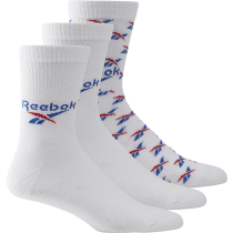 Buy CL Fo Crew Sock 3P White Vector Blue Vector Red