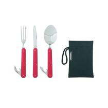 Buy Clip Cutlery Set Rouge Et Acier