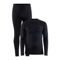 Buy Core Warm Baselayer Set M Black